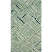 Safavieh Handmade Nantucket Abstract Green/ Multi Cotton Rug - 2' X 3'