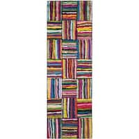 Safavieh Handmade Nantucket Multi Cotton Rug - 2'3 x 8'