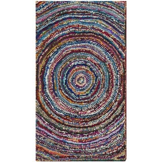 Safavieh Handmade Nantucket Modern Abstract Multicolored Cotton Rug (2' x 3')