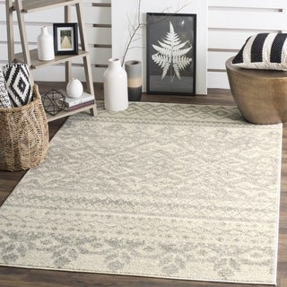 Safavieh Adirondack Southwestern Ivory / Silver Rug (3' x 5')