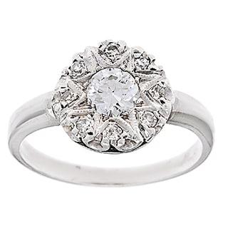Pre-owned Platinum 3/4ct TDW Diamond Estate Antique Engagement Ring (G-H, VS1-VS2)