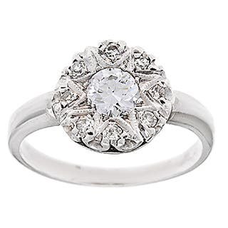 Pre-owned Platinum 3/4ct TDW Diamond Estate Antique Engagement Ring (G-H, VS1-VS2)|https://ak1.ostkcdn.com/images/products/8891849/P16113249.jpg?impolicy=medium
