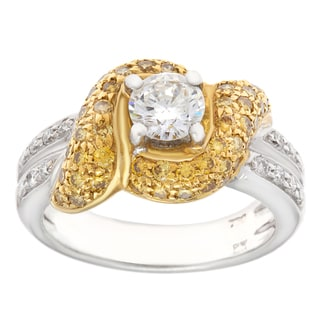 Pre-owned 18k Two-tone Gold 1ct TDW Diamond Swirl Estate Ring (H-I, SI1-SI2)