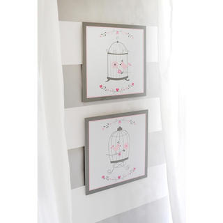Olivia Rose 2-piece Hanging Wall Art in Pink