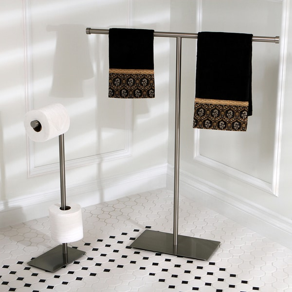 Shop Modern Satin Nickel Freestanding Bathroom Accessories