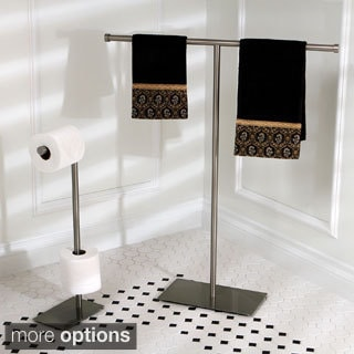 Modern Satin Nickel Freestanding Bathroom Accessories