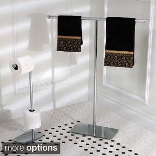 Modern Freestanding Polished Chrome Bathroom Accessories