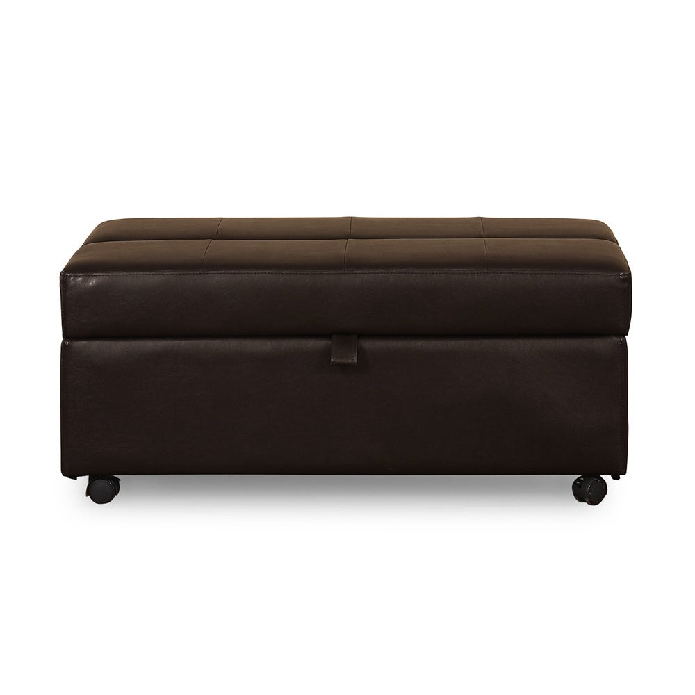 Swell Salisbury Bonded Leather Pull Out Twin Bed Ottoman Alphanode Cool Chair Designs And Ideas Alphanodeonline