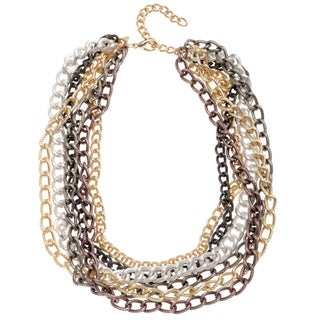 Alexa Starr Tritone Layered Chain Necklace