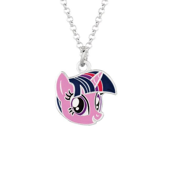 Fine Silvertone Twilight Sparkle Face My Little Pony Pend...