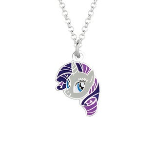 Fine Silvertone Rarity Face My Little Pony Pendant Necklace
