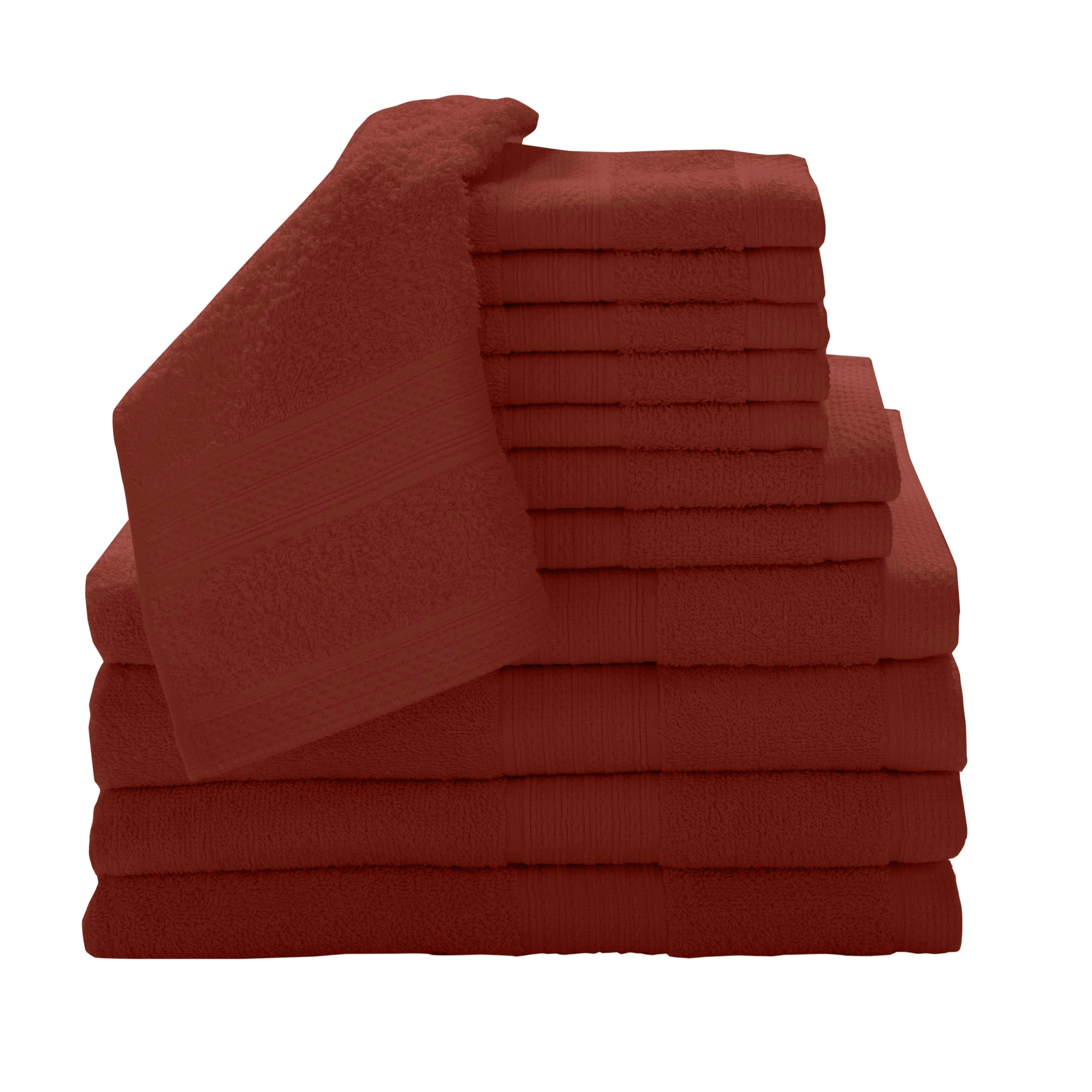Luxury 100 Percent Cotton 12 Piece Towel Set With Bath Sheets Overstock 8891936
