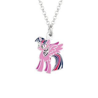 Fine Silvertone Twilight Sparkle My Little Pony Pendant Necklace