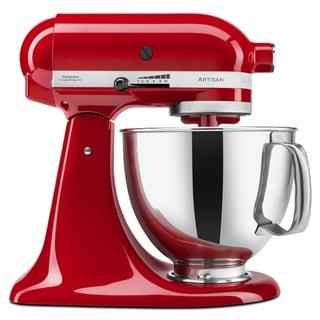KitchenAid KSM150PSER Empire Red 5-quart Artisan Mixer  with Accessories
