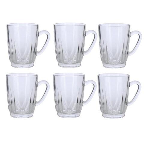 Handled Glass Tea Cup Set (Set of 6)