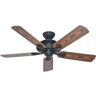 Hunter Mariner 52-inch Outdoor Ceiling Fan with New Bronze Finish and Five Medium Oak Plastic Blades