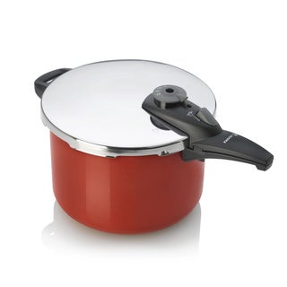 Fagor Red Stainless Steel 8-quart Pressure Cooker