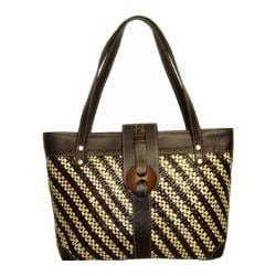 Women's Bamboo54 Pandanus Straw Bag Natural Brown