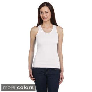 Bella Women's Rib-knit Ringspun Cotton Tank|https://ak1.ostkcdn.com/images/products/8892925/Bella-Womens-Rib-knit-Ringspun-Cotton-Tank-P16114112.jpg?impolicy=medium