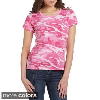 Code V Women's Jersey Cotton Camouflage T-Shirt (More options available)