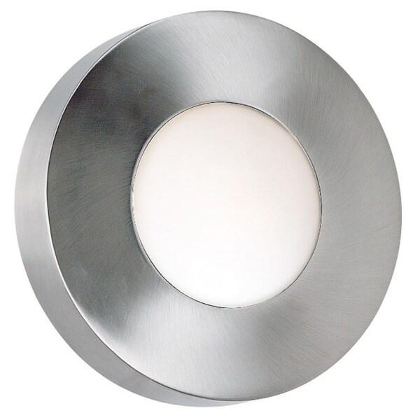 Dalya Small Round 1-light Silver Sconce/ Flush Mount