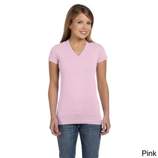 Junior Fine Jersey V-Neck Longer Length T-Shirt