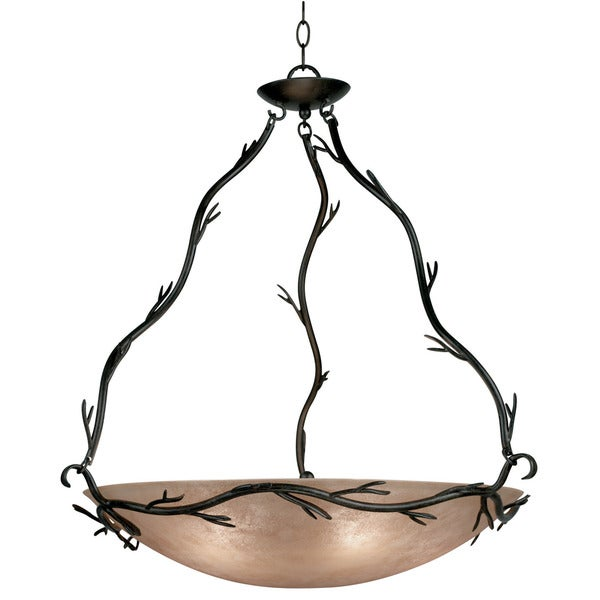 Pine Canopy Lincoln Blackened Bronze 5-light Bronze Pendant