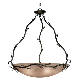 Design Craft Long Branch Blackened Bronze 5-light Bronze Pendant