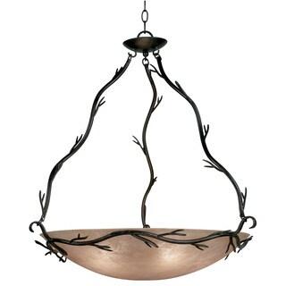 Pine Canopy Lincoln Blackened Bronze 5-light Bronze Pendant
