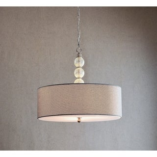 Design Craft Mia Brushed Steel 3-light Pendant