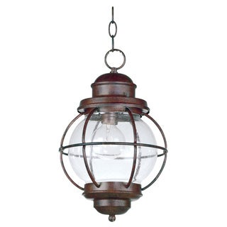 Elton 1-light Copper Indoor/ Outdoor Hanging Lantern