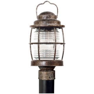 Rockledge 1-light Weathered Bronze Outdoor Post Lantern