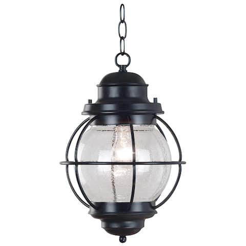 Elton 1-light Black Indoor/ Outdoor Hanging Lantern