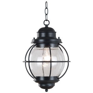 Elton 1-light Black Indoor/ Outdoor Hanging Lantern