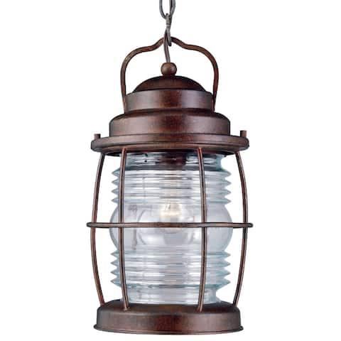 Rockledge Medium 1-light Hanging Lantern - Gilded Copper