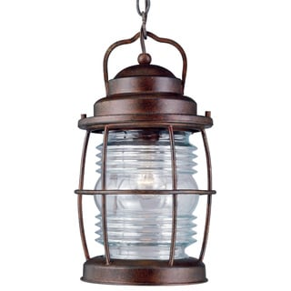 Rockledge Medium 1-light Weathered Copper Hanging Lantern