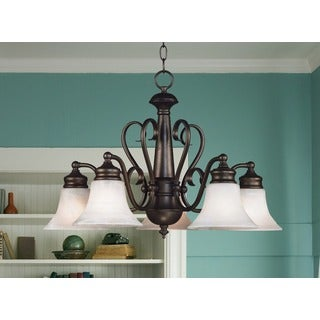 Padula 5-light Burnished Bronze Chandelier