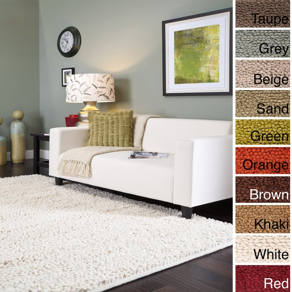 Shag Area Rugs For Living Room hand-woven new zealand felted wool plush shag area rug-(5' x 8