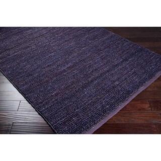 Hand Woven Casual Eco Natrual Fiber Jute Area Rug (8 x 11 - Purple)