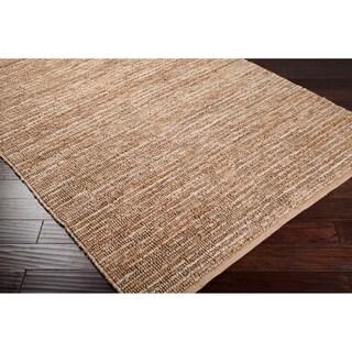 Hand Woven Casual Eco Natrual Fiber Jute Area Rug (8 x 11 - Sand)
