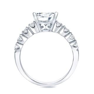 Auriya 14k Gold 2ct TDW Certified Diamond Bridal Set (H-I, SI1-SI2)