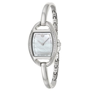 Movado Women's 0606607 'Miri' Diamond Accent Stainless Steel Swiss Quartz Watch