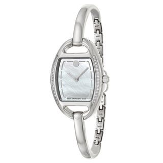 Movado Women's 0606607 'Miri' Diamond Accent Stainless Steel Swiss Quartz Watch https://ak1.ostkcdn.com/images/products/8893050/Movado-Womens-Miri-Diamond-Accent-Stainless-Steel-Swiss-Quartz-Watch-P16114203.jpg?impolicy=medium