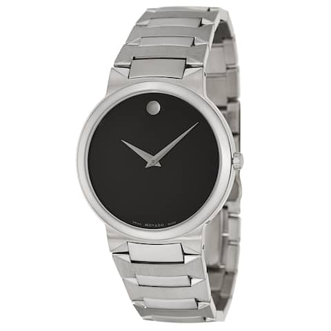 Movado Men's 'Temo' Stainless Steel Swiss Quartz Watch - Silver