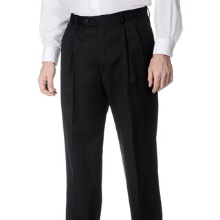 Palm Beach Men's Charcoal Pleated Front Pants