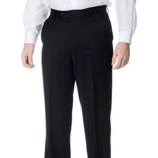 Palm Beach Men's Navy Wool Flat-front Pants
