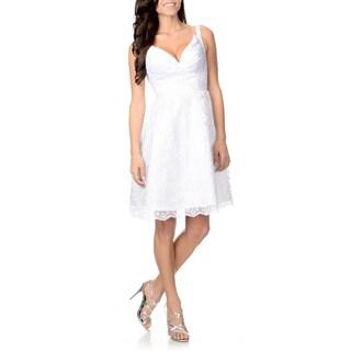 Attitude Couture Women's White Lace Wedding Dress