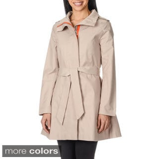 Kensie Women's Self Tie Belt Trench Coat