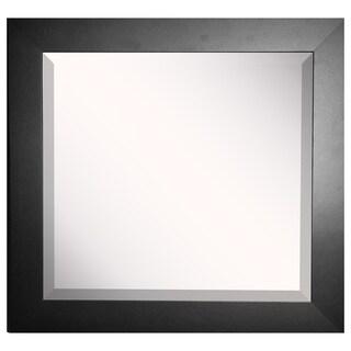 American Made Rayne Wide Black Satin Wall/ Vanity Mirror
