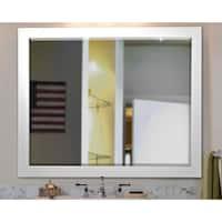 American Made Rayne Wide Satin White Wall/ Vanity Mirror - Satin White